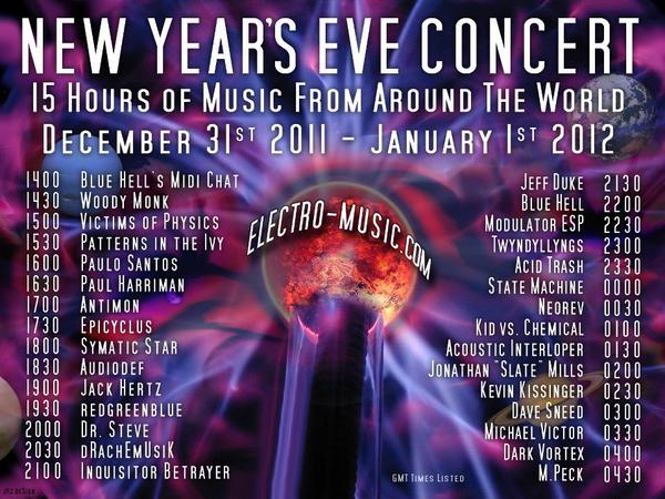 New Year's Eve 2011-2012 Concert on Electro-Music.com
